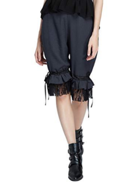 SCARLET DARKNESS Steampunk Renaissance Cropped Pants