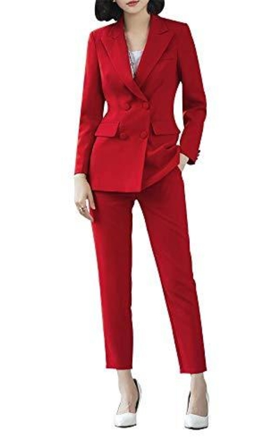 LISUEYNE  Two Pieces Blazer Office Lady Suit Set