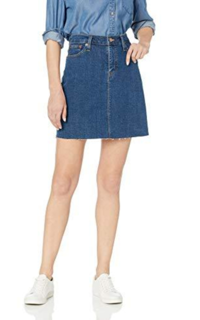 J.Crew Mercantile Raw Edge Denim Mini Skirt