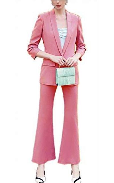 Anshirlisa Blazer Jacket Bell-Bottom Pant Suit