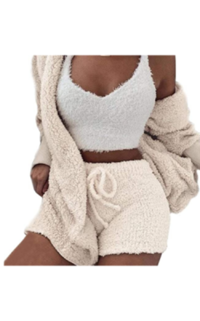Fuzzy 3 Piece Outfit Set