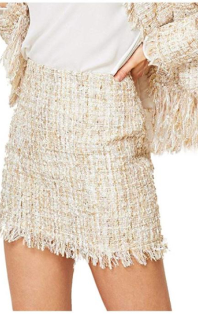WDIRARA Tweed Mini Skirt