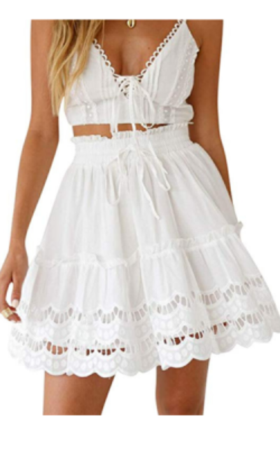 4b5fde6c027 BerryGo A-line Flared Skater Skirt