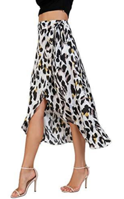Verdusa High Waist Wrap Split Skirt