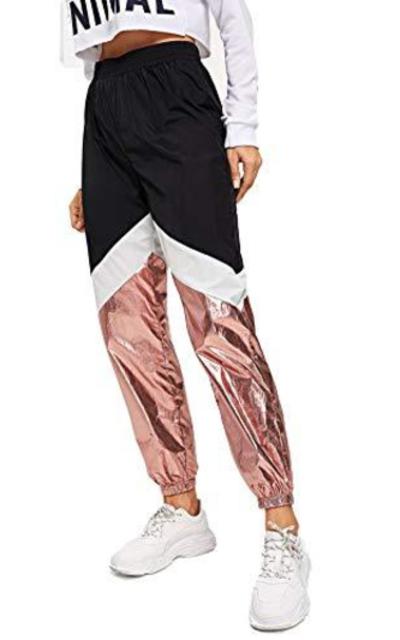 Romwe Color Block Sweatpants
