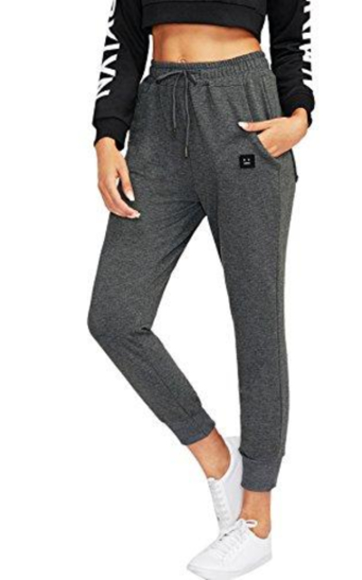 SweatyRocks Drawstring Waist Athletic Sweatpants