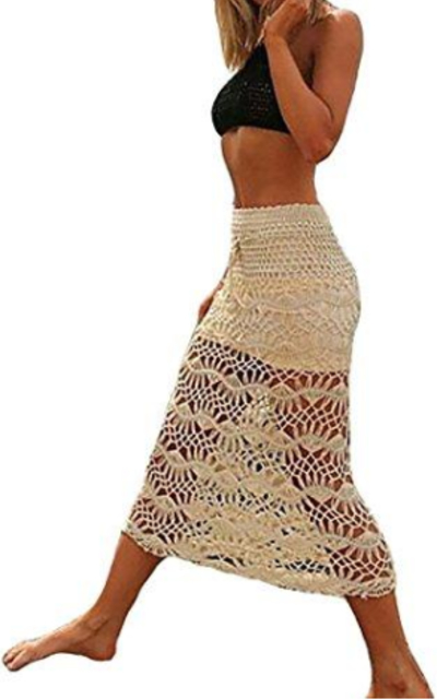WenHong Crochet Maxi Skirt