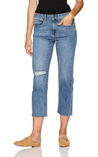 Madison Denim Crosby Straight Leg Crop Jean