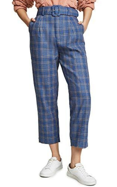 MOON RIVER High Rise Belted Pants