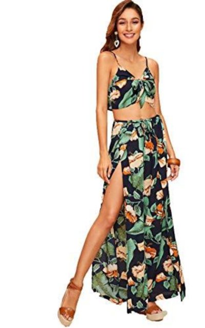 SweatyRocks Two Piece Outfit