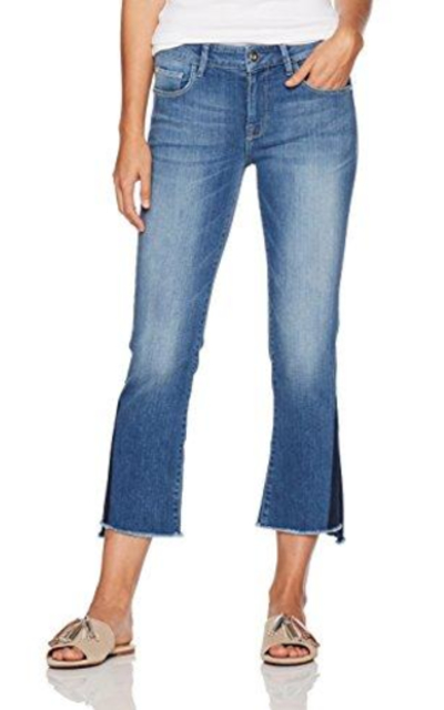 Madison Bleeker Crop Flare Jean with Shadow