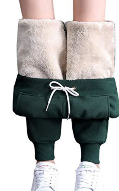 ZGZZ7 hermal Sherpa-Lined Active Sweatpants