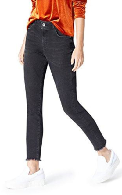 find. Skinny High Rise Stretch Frayed Hem Jeans