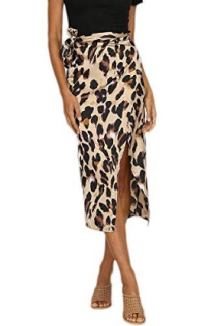 Fxbar  Leopard Print Split Skirt