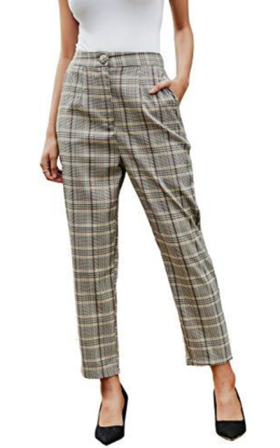 Miessial Plaid Blazer Pants