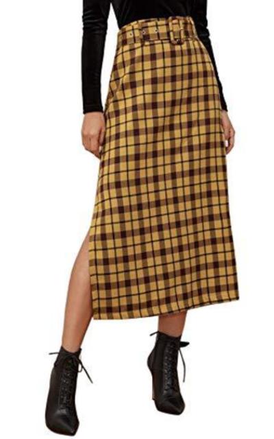 WDIRARA Plaid Skirt