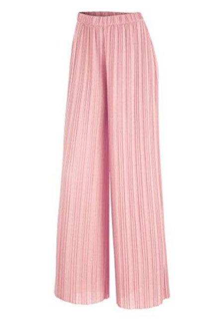 MBJ WB1794 Pleated Wide Leg Pants