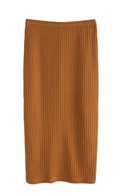 SheIn Basic Stretchy Ribbed Knit Skirt