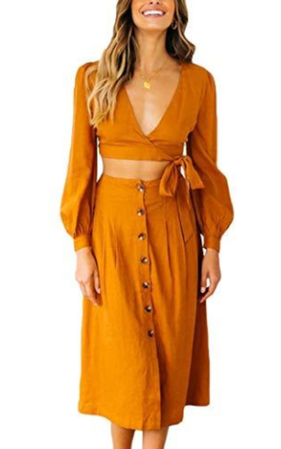 QINSEN Two Pieces Dress