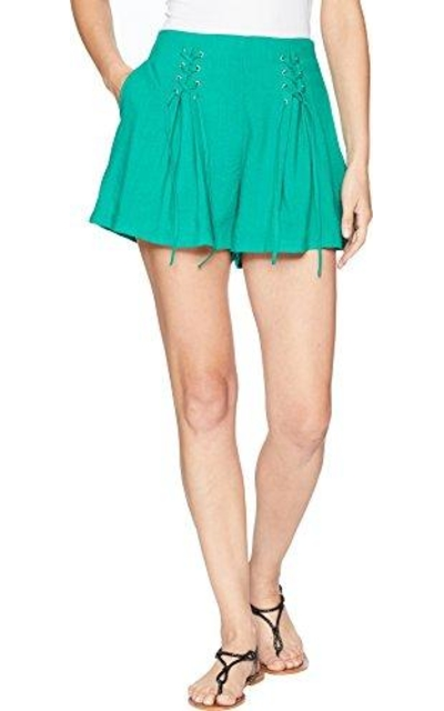 JOA HIGH Waisted LACE UP Front Pleated Shorts