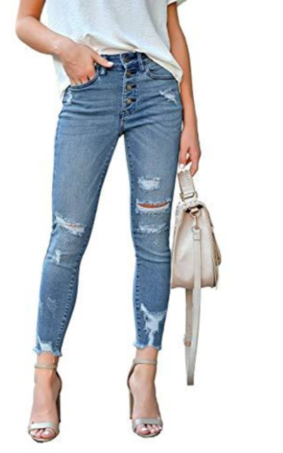 luvamia Ripped Denim Jeans