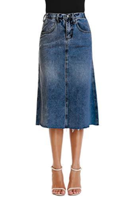 Mia Pristine Light Wash Jean Skirt