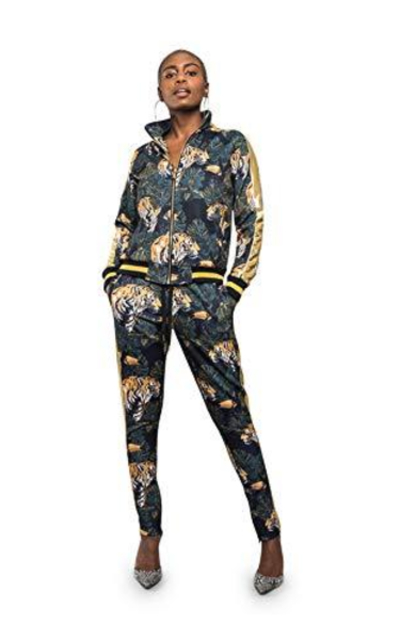 Royal Floral Jungle Floral Tiger - 2 Piece Outfits
