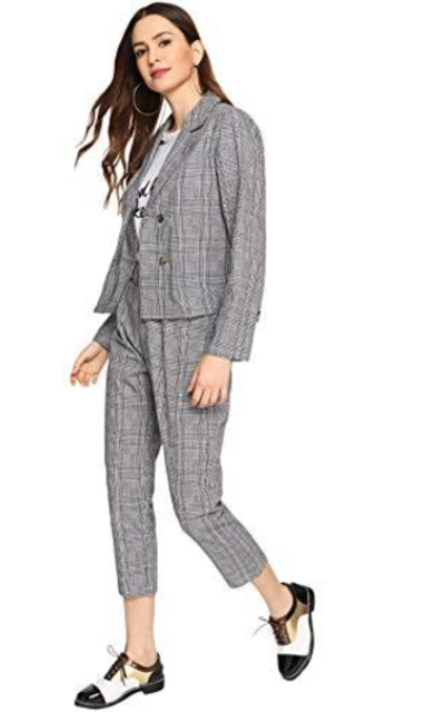 MAKEMECHIC Two-Piece Blazers Jackets with Pants