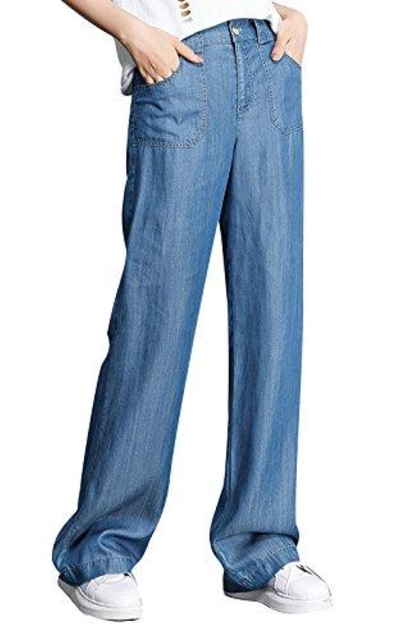 Ecupper High Waist Wide Leg Jeans