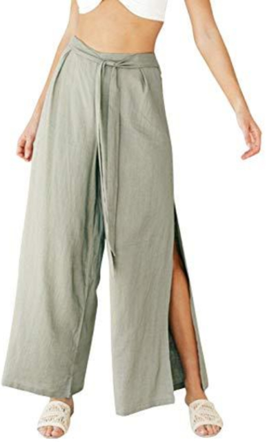 Glamaker Casual Wide Leg Cotton Pants