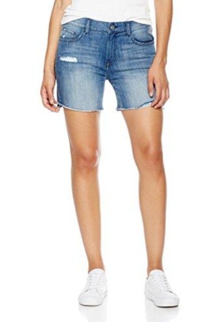 Madison  Denim Bowery Relaxed Distressed Jean Short