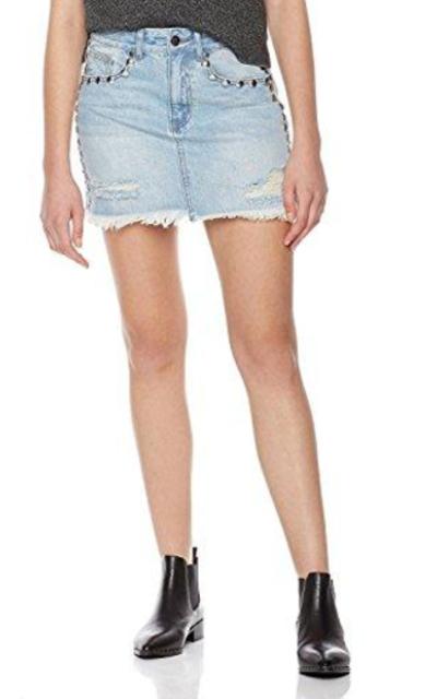 Lily Parker Rivet Mini Skirt