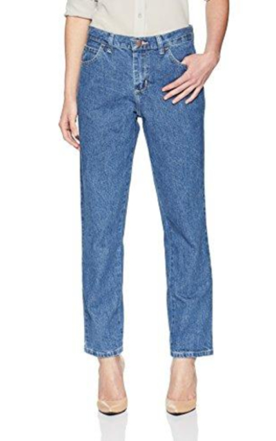 LEE Petite Relaxed Fit All Cotton Straight Leg Jean