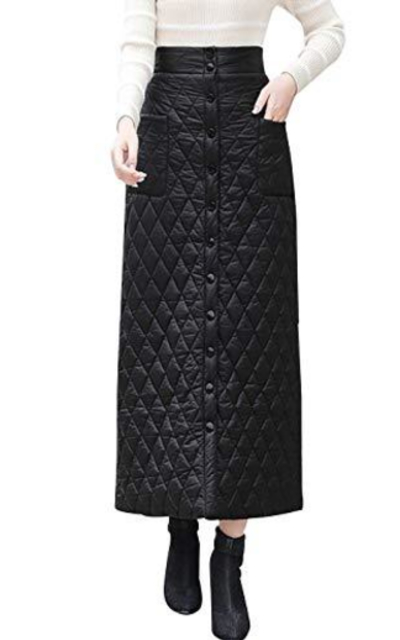 Gihuo Quilted Skirt