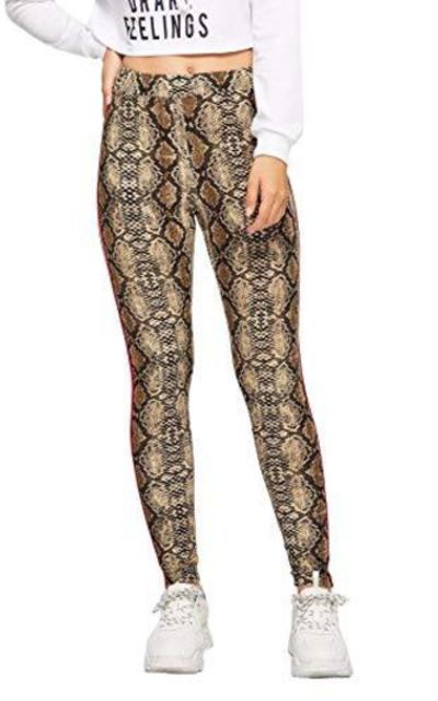 WDIRARA Snake Print Leggings