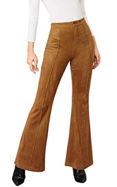 MAKEMECHIC Solid Flare Pants