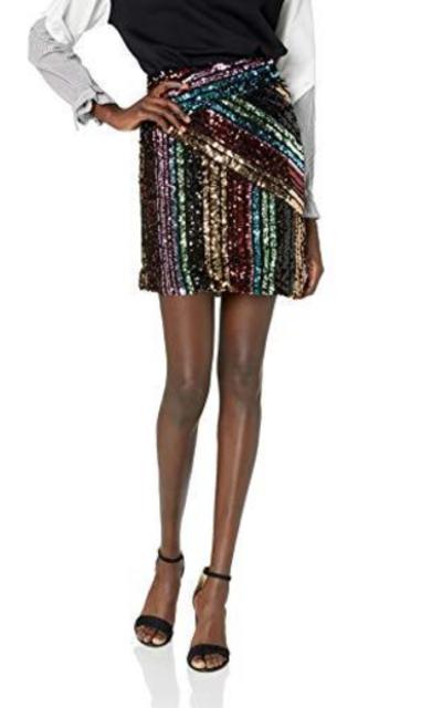 Nicole Miller New York Sequin Skirt