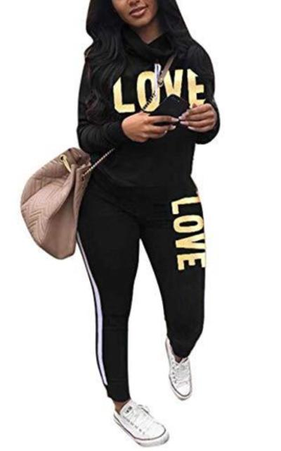 Love Sweatshirt and Sweatpants Set