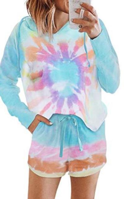 Eytino Tie Dye Printed Loungewear Set