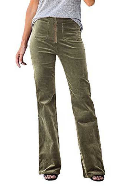 Geckatte Corduroy Bell Bottom Flared Pants