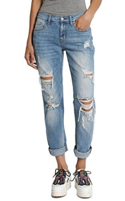 TheMogan Roll Up Relaxed Jeans