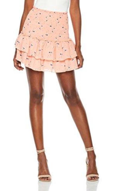 Plumberry High Waisted Ruffle Short Mini Skirt