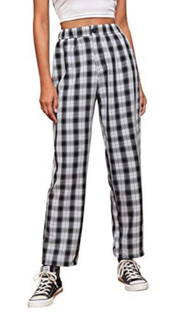 WDIRARA  Plaid High Waist Pants