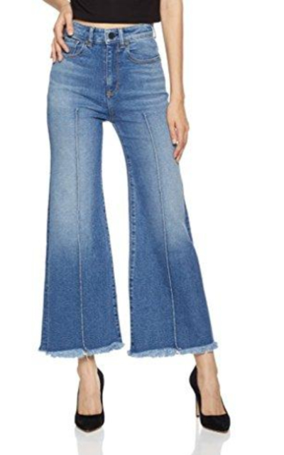 HALE June High-Waisted Wide-Leg Crop Jean