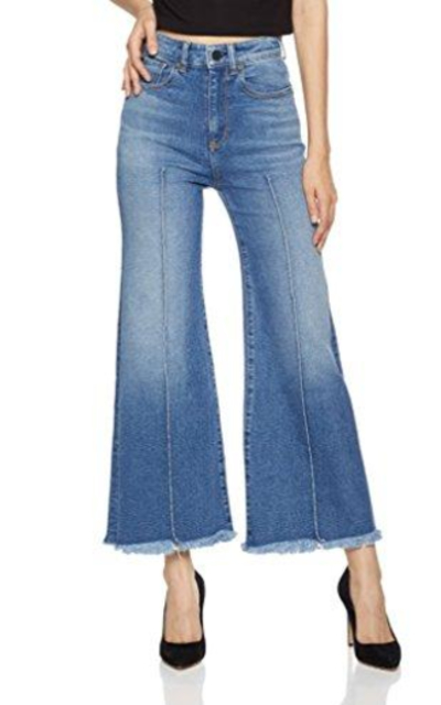 HALE Women's June High Waisted Jean with Pin Tucks
