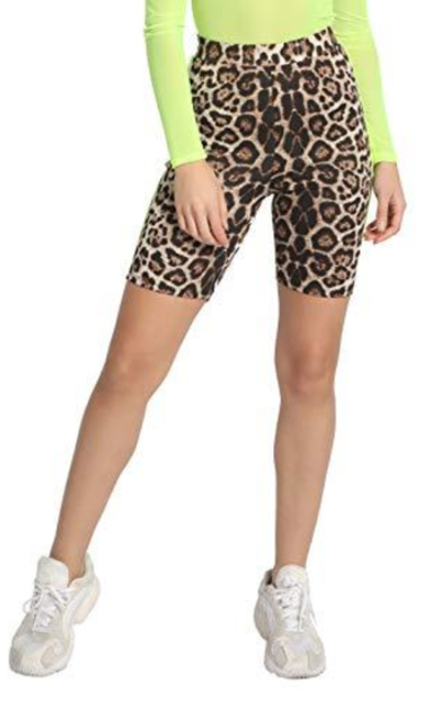 APPROVED by me Leopard Shorts with Neon Stripe