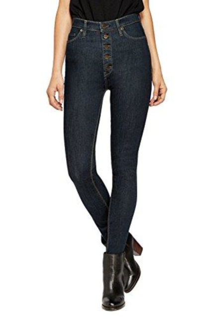 HyBrid & Company Super Stretch 5 Button Hi-Waist Skinny Jeans