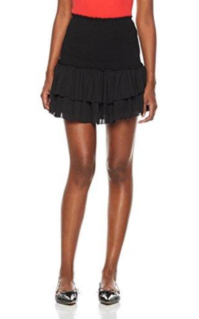 Plumberry Ruffle Short Mini Skirt