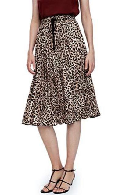 BerryGo Leopard Skirt