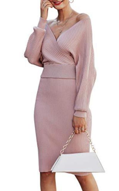 Sollinarry 2 Piece Knit Sweater Dress